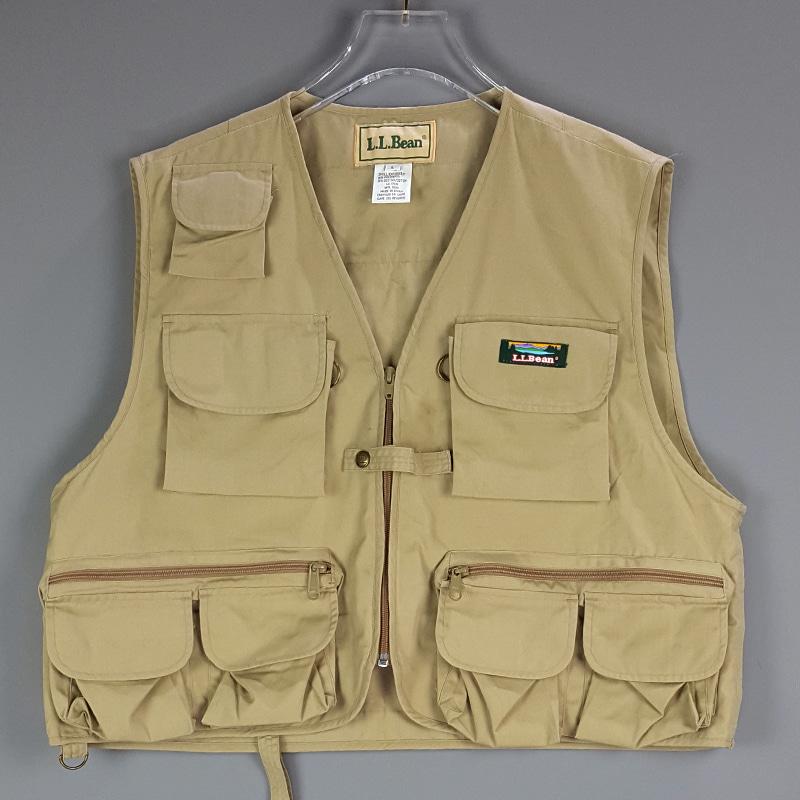 BTF12022 L.L.Bean Lasier Vest 엘엘빈 낙시조끼 L (구제,빈티지)